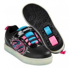 Heelys X2 POW Lighted Black-Neon Blue-Neon Pink